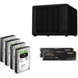 Synology Ultima Bundle - DS918+ x 1 NAS + Ironwolf 6TB HDDs x 4 + Samsung M.2 NVMe 500GB x 2