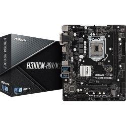 ASRock Intel H310 chipset, micro ATX, PCIe x16, M.2(1 SSD), HDMI, DVI-D, D-Sub, USB 3.1, Intel I219V, 3 yrs wrty