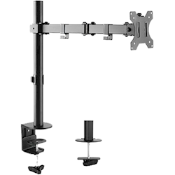 4Cabling Single Arm Double Joint Monitor Bracket