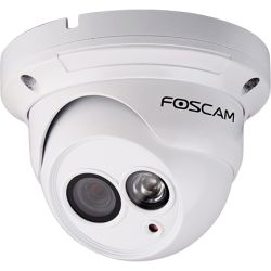 Foscam 1MP 720P Outdoor Wired PoE Dome, 10M IR, microSD - White