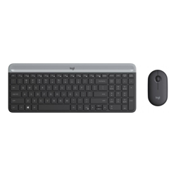 Slim Wireless Keyboard and Mouse Combo MK470 Black